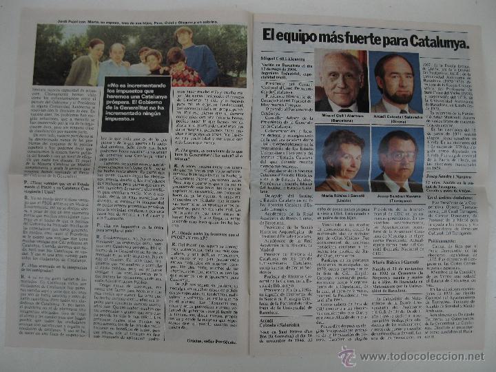 Libros de segunda mano: PROGRAMA ELECTORAL DE CONVERGENCIA I UNIÓ - CIU - JORDI PUJOL - AÑO 1982. - Foto 3 - 44788195
