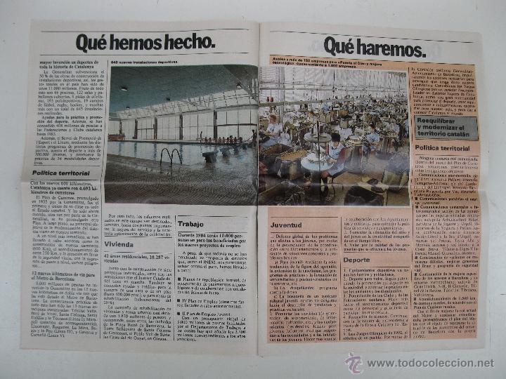 Libros de segunda mano: PROGRAMA ELECTORAL DE CONVERGENCIA I UNIÓ - CIU - JORDI PUJOL - AÑO 1982. - Foto 5 - 44788195
