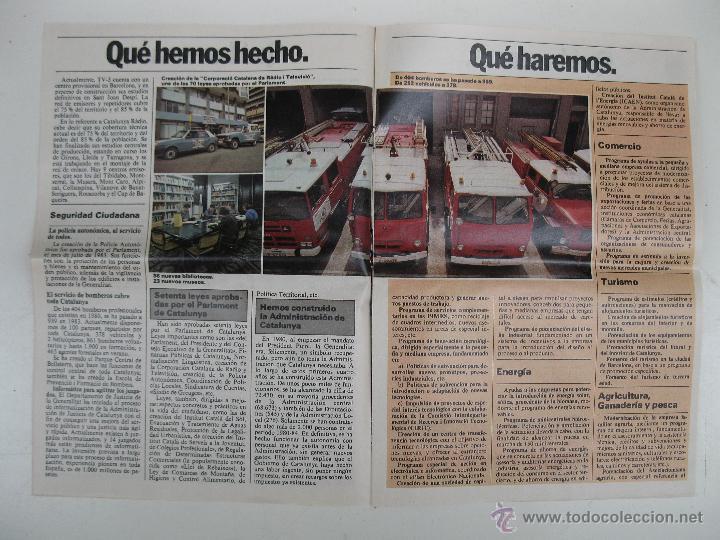 Libros de segunda mano: PROGRAMA ELECTORAL DE CONVERGENCIA I UNIÓ - CIU - JORDI PUJOL - AÑO 1982. - Foto 6 - 44788195