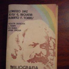 Libros de segunda mano: BIBLIOGRAFIA SOBRE MARXISMO Y REVOLUCION - LORENZO DIAZ / JESUS G. REQUENA - COMUNISMO - ED. DEDALO. Lote 52928941