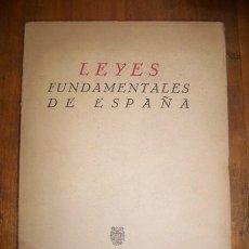 Libros de segunda mano: ESPAÑA. LEYES, DECRETOS, ETC. LEYES FUNDAMENTALES DE ESPAÑA. Lote 45566073