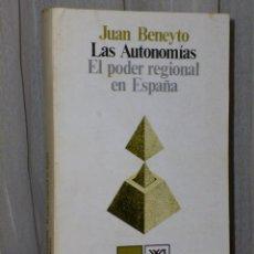 Libros de segunda mano: LAS AUTONOMÍAS. EL PODER REGIONAL EN ESPAÑA. . Lote 46243088