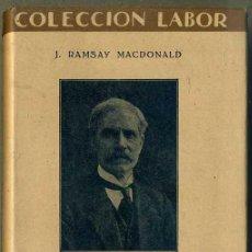 Libros de segunda mano: RAMSAY MACDONALD : SOCIALISMO (LABOR, 1937). Lote 46755132