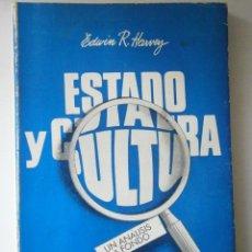 Libros de segunda mano: ESTADO Y CULTURA UN ANALISIS A FONDO EDWIN HARVEY DEPALMA 1980 1500 EJEMPLARES. Lote 46871650