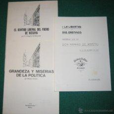 Libros de segunda mano: 3 FOLLETOS DE LA SOCIEDAD EL SITIO DE BILBAO. FACCSIMIL. L28. Lote 46978582