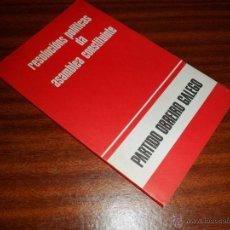 Gebrauchte Bücher - RESOLUCIÓNS POLÍTICAS DA ASAMBLEA CONSTITUINTE. - PARTIDO OBREIRO GALEGO. (1977) - 47557903