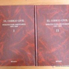 Libros de segunda mano: EL CODIGO CIVIL. DEBATES PARLAMENTARIOS 1885-1889. ESTUDIO PRELIMINAR DE JOSÉ LUIS DE LOS MOZOS. . Lote 47894959