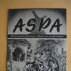 Libros de segunda mano: ASPA Nº 120 (20-V-1942) JOSÉ MIGUEL GUITARTE IRIGARAY IV JEFE NACIONAL DEL SEU (FALANGE). Lote 48459281