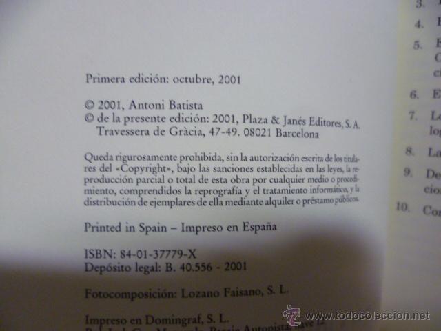 Libros de segunda mano: EUSKADI SIN PREJUICIOS - ANTONI BATISTA 1ª Edición 2001 - Foto 2 - 49375244