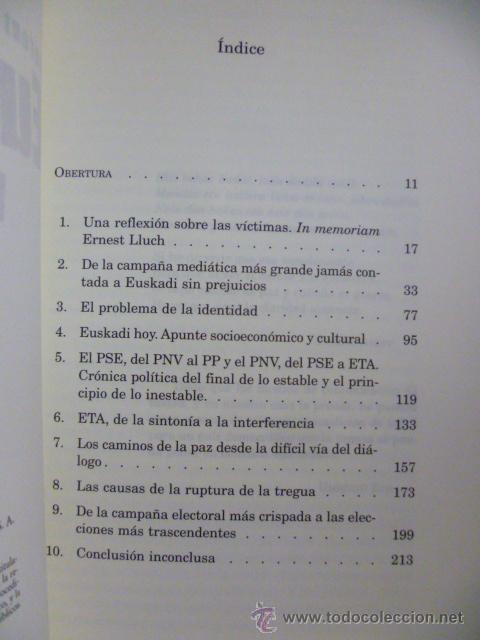 Libros de segunda mano: EUSKADI SIN PREJUICIOS - ANTONI BATISTA 1ª Edición 2001 - Foto 3 - 49375244