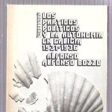 Libros de segunda mano: LOS PARTIDOS POLÍTICOS Y LA AUTONOMÍA EN GALICIA 1931-1936. ALFONSO ALFONSO BOZZO. AKAL EDITOR. 1976. Lote 50406645