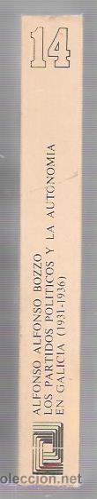 Libros de segunda mano: LOS PARTIDOS POLÍTICOS Y LA AUTONOMÍA EN GALICIA 1931-1936. ALFONSO ALFONSO BOZZO. AKAL EDITOR. 1976 - Foto 3 - 50406645