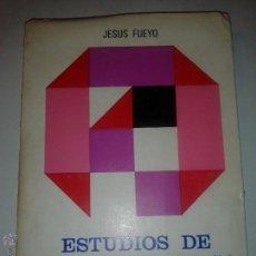 Libros de segunda mano: ESTUDIOS DE TEORÍA POLÍTICA 1968 JESÚS PUEYO ALVAREZ EDITA INSTITUTO DE ESTUDIOS POLÍTICOS. Lote 50575590