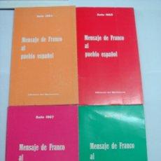 Libros de segunda mano: CONJUNTO DE 4 LIBROS MENSAJE DE FRANCO AL PUEBLO ESPAÑOL.. Lote 50604770