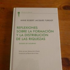 Livres d'occasion: REFLEXIONES SOBRE LA FORMACION Y LA DISTRIBUCION DE LAS RIQUEZAS.JACQUES TURGOT. UNION ED.. Lote 50727623