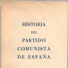 Libros de segunda mano: HISTORIA DEL PARTIDO COMUNISTA DE ESPAÑA,EDICIONES POLONIA, VARSOVIA 1960,288 PAGINAS. Lote 50990058