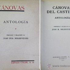 Libros de segunda mano: CÁNOVAS DEL CASTILLO, ANTONIO. ANTOLOGÍA. 1941.. Lote 51355587