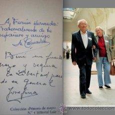 Libros de segunda mano: FIRMADO A MANO POR MARCELINO CAMACHO Y JOSEFINA SAMPER. CHARLAS EN LA PRISIÓN.CC.OO. TRANSICIÓN.. Lote 40160047