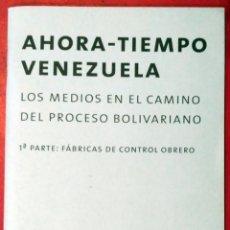 Libros de segunda mano: CHRIS GILBERT - DARIO AZZELLINI - OLIVER RESSLER . AHORA - TIEMPO VENEZUELA / NOW -TIME VENEZUELA 1. Lote 52805480