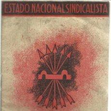 Libros de segunda mano: ESTADO NACIONAL SINDICALISTA. FUERO DEL TRABAJO. Lote 52877144