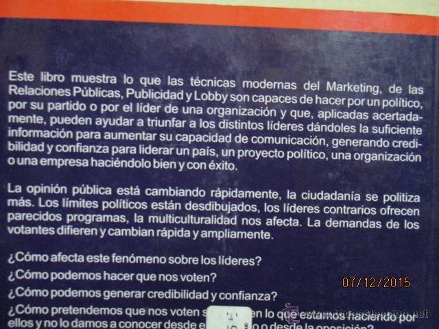 Libros de segunda mano: Gane usted las próximas elecciones: marketing político - Barquero Cabrero, José Daniel - Foto 6 - 53196347