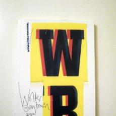 Libros de segunda mano: CRÍTICA DE LA VIOLENCIA (WALTER BENJAMÍN). Lote 53535304