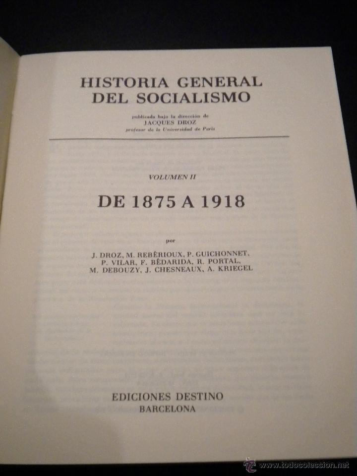 Libros de segunda mano: Historia general del socialismo / 2 / de 1875 a 1918 / VVAA - Foto 3 - 53789024