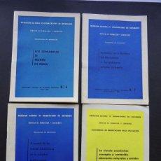 Libros de segunda mano: 4 CUADERNOS SERVICIO DE FORMACION AÑOS 1962 - 1964 / DELEGACION NACIONAL DEL MOVIMIENTO / FALANGE. Lote 54905326