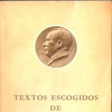 Libros de segunda mano: TEXTOS ESCOGIDOS DE MAO TSETUNG (PEKIN, 1976). Lote 55698287