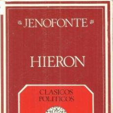 Libros de segunda mano - HIERON. JENOFONTE. CLÁSICOS POLÍTICOS. INSTITUTO DE ESTUDIOS POLÍTICOS. MADRID. 1971 - 56250436
