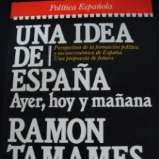 Libros de segunda mano: UNA IDEA DE ESPAÑA. AYER, HOY Y MAÑANA. RAMON TAMAMES. PLAZA JANES.. Lote 56475206