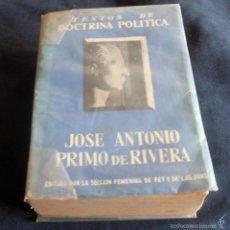 Libros de segunda mano: TEXTOS DE DOCTRINA POLITICA, JOSE ANTONIO PRIMO DE RIVERA. Lote 56566093