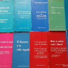 Libros de segunda mano: EDICIONES DEL MOVIMIENTO, LOTE DE 11 PUBLICACIONES. FALANGE.. Lote 56873613