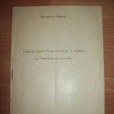 Libros de segunda mano: D. ANTÓNIO, BISPO DO PORTO. CARTA DO SENHOR BISPO DO PORTO, D. ANTONIO AO PRESIDENTE DO CONSELHO. Lote 56957863