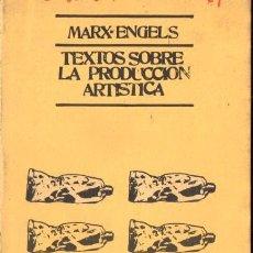 Libros de segunda mano: MARX / ENGELS : TEXTOS SOBRE PRODUCCIÓN ARTÍSTICA (ALBERTO CORAZÓN, 1976) . Lote 57032337