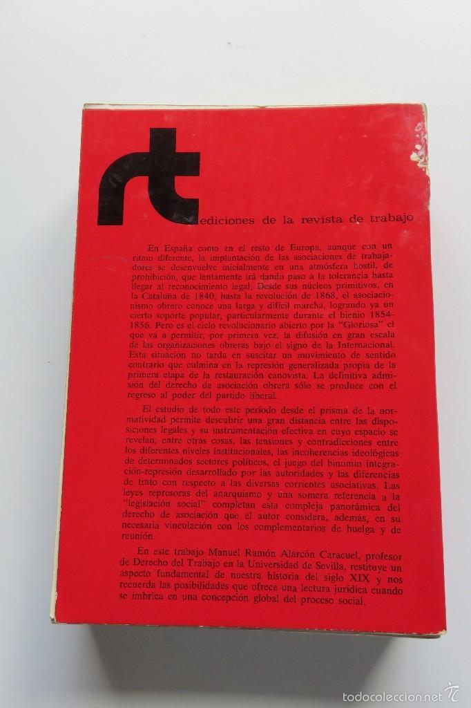 Libros de segunda mano: EL DERECHO DE ASOCIACIÓN OBRERA EN ESPAÑA - MANUEL R. ALARCÓN - EDICIONES REVISTA DE TRABAJO (1975) - Foto 4 - 57136331