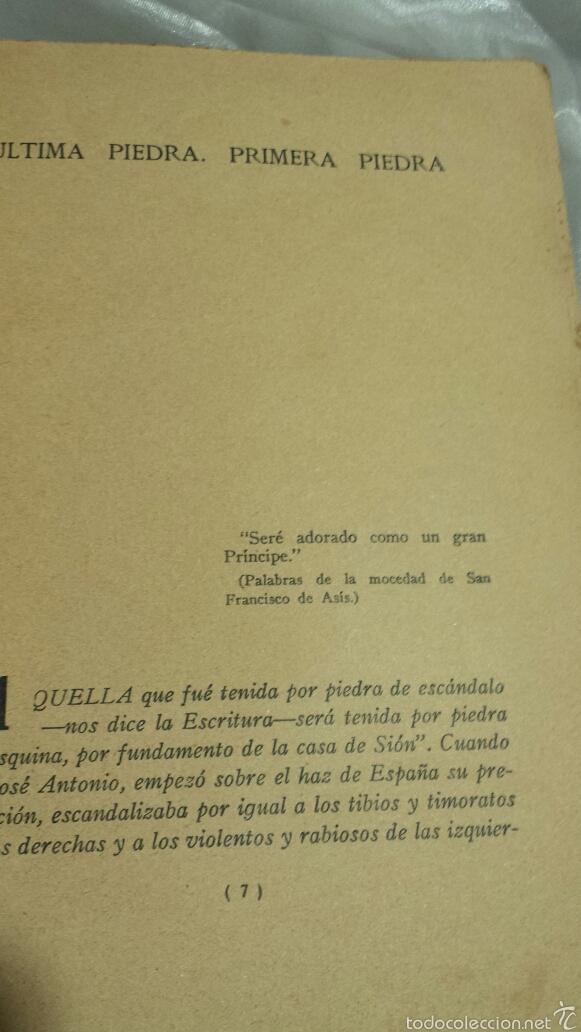 Libros de segunda mano: Josè Antonio Primo de Rivera- ESCRITOS . EDICIONES FE . 1940 - Foto 3 - 57139879
