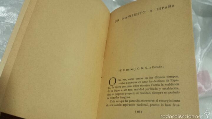 Libros de segunda mano: Josè Antonio Primo de Rivera- ESCRITOS . EDICIONES FE . 1940 - Foto 6 - 57139879