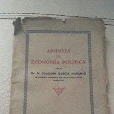 Libros de segunda mano: APUNTES DE ECONOMÍA POLÍTICA DE SEVILLA 1941. LA TAPA RASGADA. Lote 57892251
