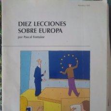 Libros de segunda mano: DIEZ LECCIONES SOBRE EUROPA --REFM1E2. Lote 57929449