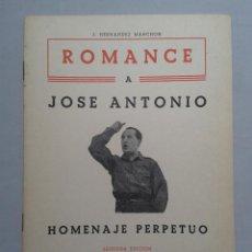 Libros de segunda mano: ROMANCE A JOSÉ ANTONIO. J. HERNÁNDEZ MANCHÓN. AÑO 1959.. Lote 57951025
