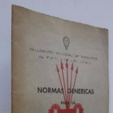 Libros de segunda mano: NORMAS GENERICAS PARA LA CONSTITUCION DE GREMIOS LOCALES - FALANGE ESPAÑOLA. Lote 57994318