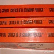 Libros de segunda mano: CARLOS MARX. EL CAPITAL. CRÍTICA DE LA ECONOMÍA POLÍTICA. TRES TOMOS. RM75579. . Lote 58005374