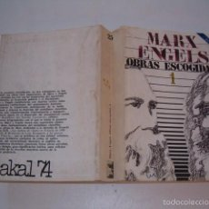 Libros de segunda mano: CARLOS MARX, FEDERICO ENGELS. OBRAS ESCOGIDAS. TOMO PRIMERO. RM75624. . Lote 164085757