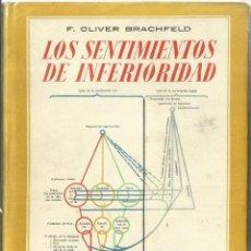 Libros de segunda mano: LOS SENTIMIENTOS DE INFERIORIDAD. F. OLIVER BRACHFELD. EDITORIAL APOLO. BARCELONA. 1944. Lote 58292208