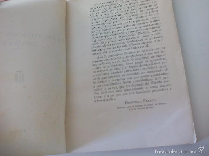 Libros de segunda mano: La organización sindical Española. Escuela sindical 1961 - Foto 5 - 58479402