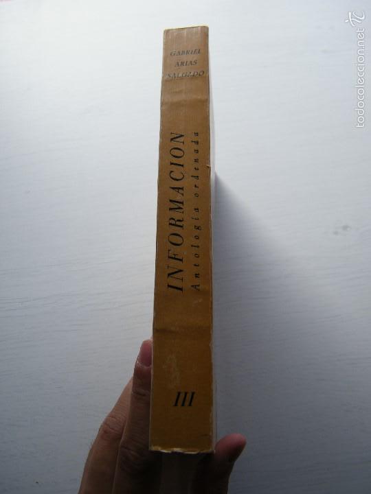 Libros de segunda mano: TEXTOS DE DOCTRINA y POLÍTICA ESPAÑOLA DE LA INFORMACIÓN (TOMO 3) - GABRIEL ARIAS-SALGADO - Foto 2 - 58865596