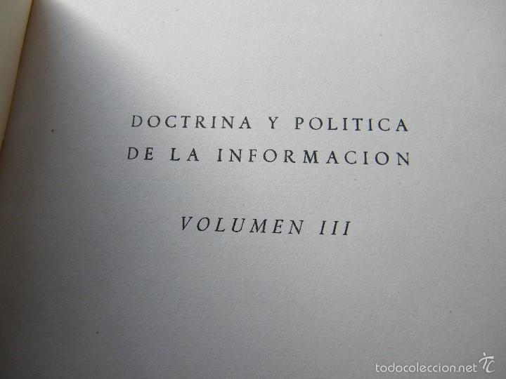Libros de segunda mano: TEXTOS DE DOCTRINA y POLÍTICA ESPAÑOLA DE LA INFORMACIÓN (TOMO 3) - GABRIEL ARIAS-SALGADO - Foto 4 - 58865596