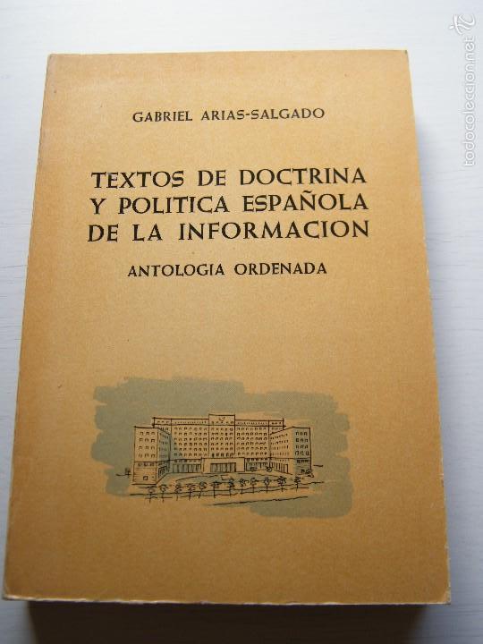 TEXTOS DE DOCTRINA Y POLÍTICA ESPAÑOLA DE LA INFORMACIÓN (TOMO 3) - GABRIEL ARIAS-SALGADO (Libros de Segunda Mano - Pensamiento - Política)