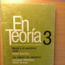 Libros de segunda mano: EN TEORÍA 3 - MANDEL, WALLERSTEIN Y JOSÉ JIMÉNEZ -. Lote 59076850